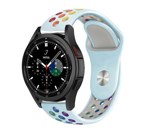 Strap-it® Strap-it® Samsung Galaxy Watch 4 Classic sport band (lichtblauw/kleurrijk)