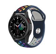 Strap-it® Samsung Galaxy Watch 4 Classic sport band (donkerblauw/kleurrijk)