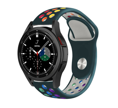 Strap-it® Strap-it® Samsung Galaxy Watch 4 Classic sport band (dennengroen/kleurrijk)