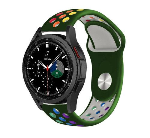 Strap-it® Strap-it® Samsung Galaxy Watch 4 Classic sport band (legergroen/kleurrijk)