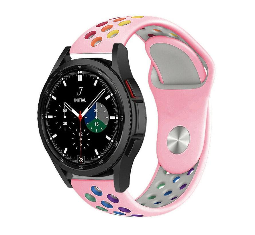 Strap-it® Samsung Galaxy Watch 4 Classic sport band (roze/kleurrijk)