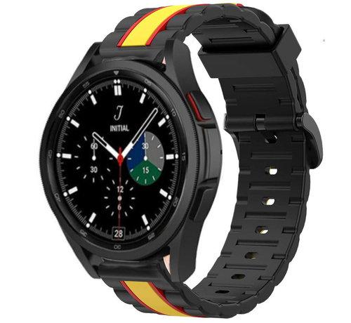 Strap-it® Strap-it® Samsung Galaxy Watch 4 Classic Special Edition Band (zwart/geel)
