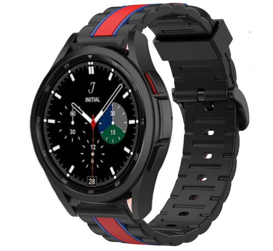 Strap-it® Samsung Galaxy Watch 4 Classic Special Edition Band (zwart/rood)