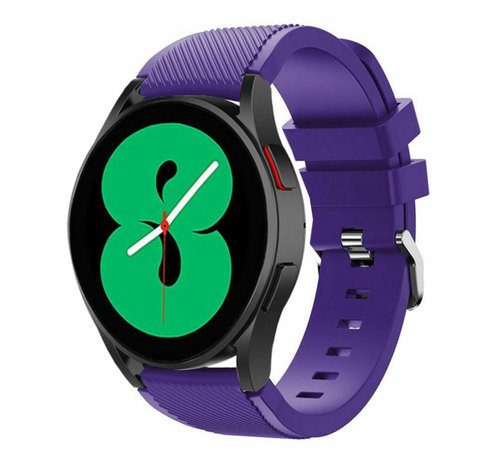 Strap-it® Strap-it Samsung Galaxy Watch 4 - 44mm siliconen bandje (paars)