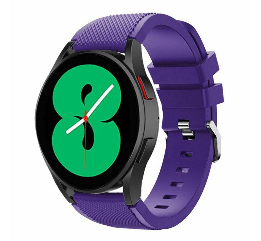 Strap-it Samsung Galaxy Watch 4 - 44mm siliconen bandje (paars)