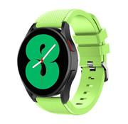 Strap-it® Samsung Galaxy Watch 4 - 44mm siliconen bandje (lichtgroen)