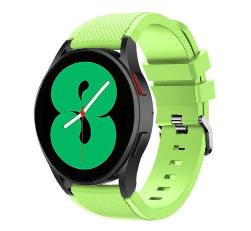 Strap-it® Strap-it Samsung Galaxy Watch 4 - 44mm siliconen bandje (lichtgroen)