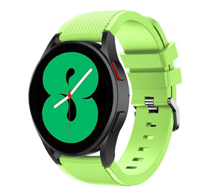 Strap-it Samsung Galaxy Watch 4 - 44mm siliconen bandje (lichtgroen)