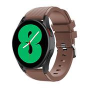 Strap-it® Samsung Galaxy Watch 4 - 44mm siliconen bandje (koffiebruin)