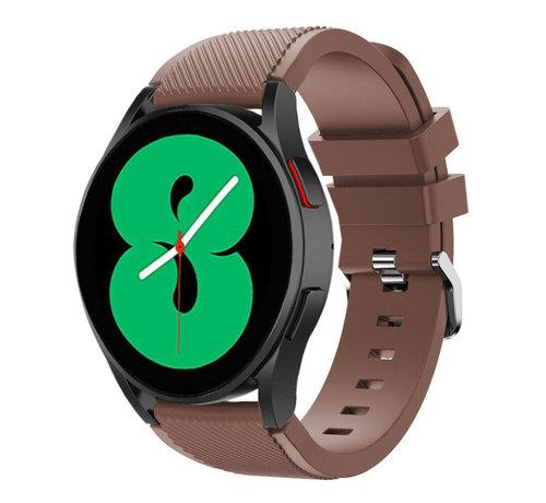 Strap-it® Strap-it Samsung Galaxy Watch 4 - 44mm siliconen bandje (koffiebruin)