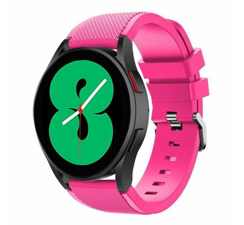Strap-it® Strap-it Samsung Galaxy Watch 4 - 44mm siliconen bandje (knalroze)