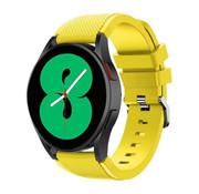 Strap-it® Samsung Galaxy Watch 4 - 44mm siliconen bandje (geel)