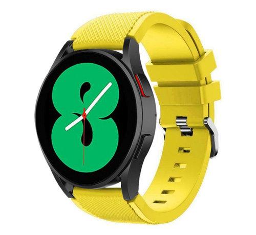 Strap-it® Strap-it Samsung Galaxy Watch 4 - 44mm siliconen bandje (geel)