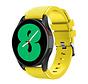 Strap-it Samsung Galaxy Watch 4 - 44mm siliconen bandje (geel)