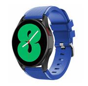 Strap-it® Samsung Galaxy Watch 4 - 44mm siliconen bandje (blauw)