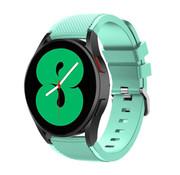 Strap-it® Samsung Galaxy Watch 4 - 44mm siliconen bandje (aqua)