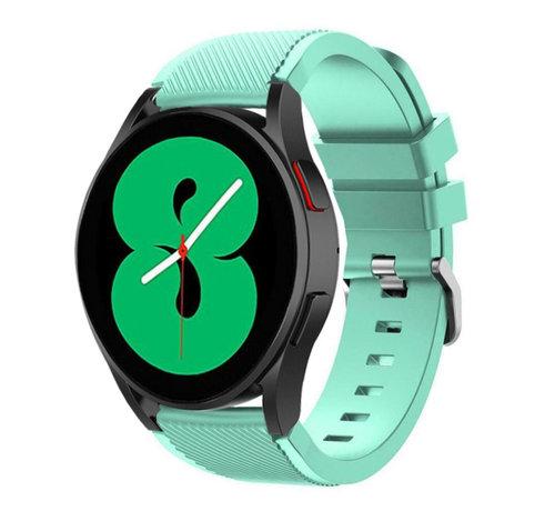 Strap-it® Strap-it Samsung Galaxy Watch 4 - 44mm siliconen bandje (aqua)