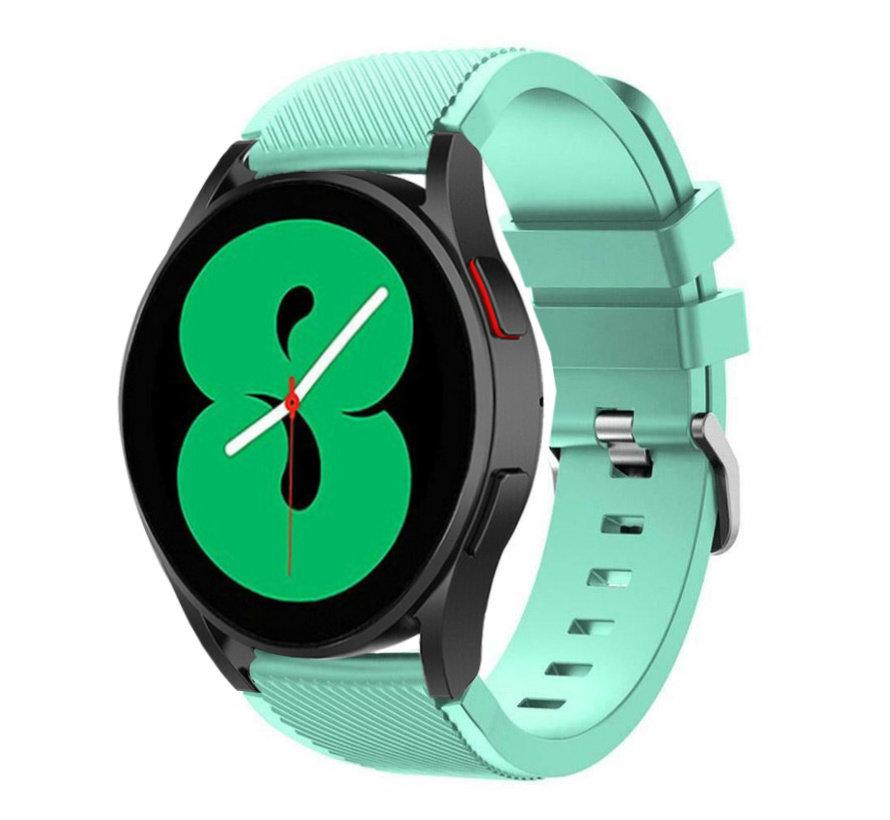 Strap-it Samsung Galaxy Watch 4 - 44mm siliconen bandje (aqua)