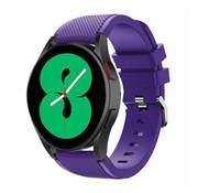 Strap-it® Samsung Galaxy Watch 4 - 40mm siliconen bandje (paars)
