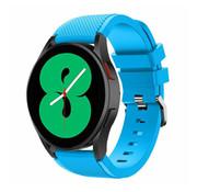 Strap-it® Samsung Galaxy Watch 4 - 44mm siliconen bandje (lichtblauw)