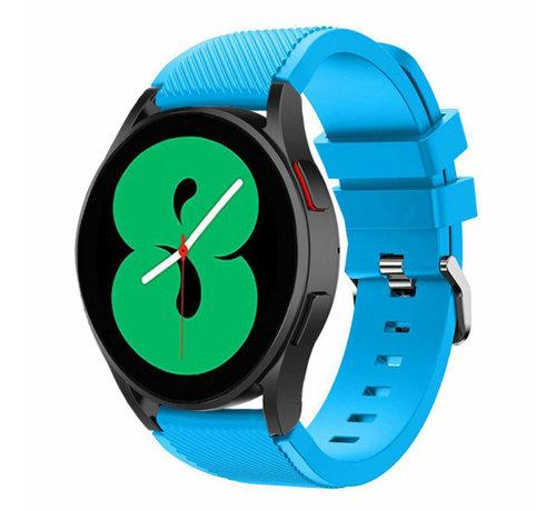 Strap-it® Strap-it Samsung Galaxy Watch 4 - 44mm siliconen bandje (lichtblauw)