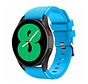 Strap-it Samsung Galaxy Watch 4 - 44mm siliconen bandje (lichtblauw)