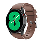 Strap-it Samsung Galaxy Watch 4 - 40mm siliconen bandje (koffiebruin)