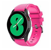 Strap-it® Samsung Galaxy Watch 4 - 40mm siliconen bandje (knalroze)
