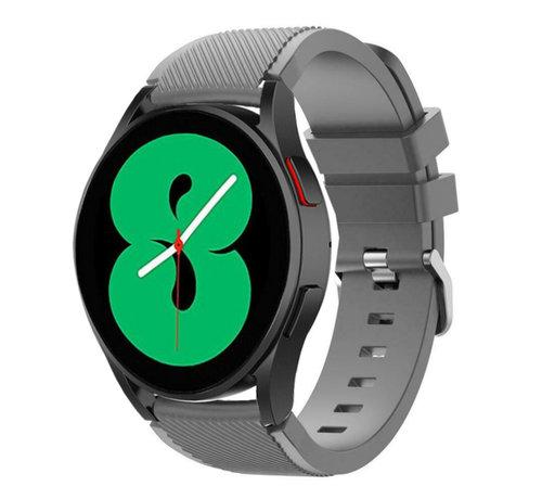 Strap-it® Strap-it Samsung Galaxy Watch 4 - 40mm siliconen bandje (grijs)