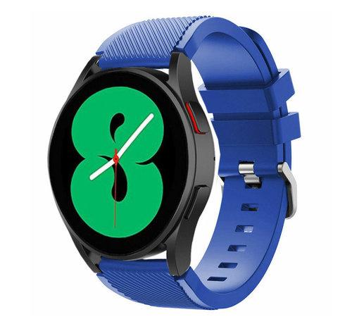 Strap-it® Strap-it Samsung Galaxy Watch 4 - 40mm siliconen bandje (blauw)