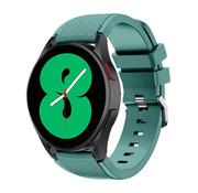 Strap-it® Samsung Galaxy Watch 4 - 44mm siliconen bandje (dennengroen)