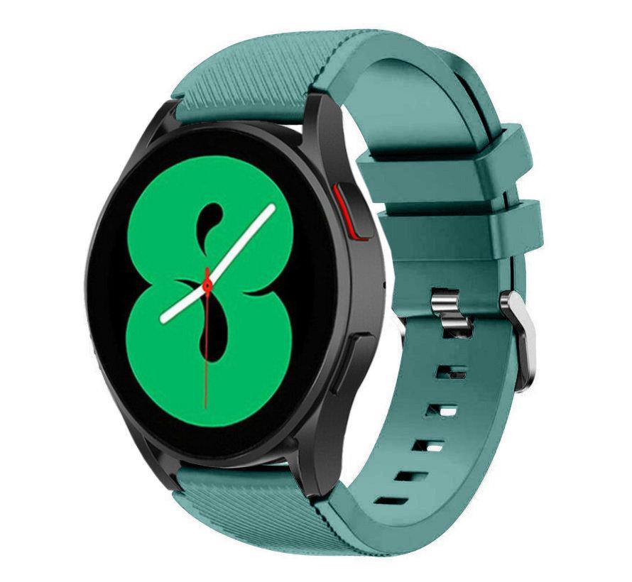 Strap-it Samsung Galaxy Watch 4 - 44mm siliconen bandje (dennengroen)