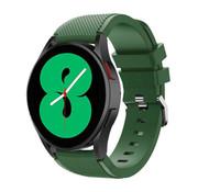 Strap-it® Samsung Galaxy Watch 4 - 44mm siliconen bandje (legergroen)