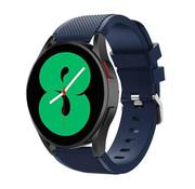 Strap-it® Samsung Galaxy Watch 4 - 44mm siliconen bandje (donkerblauw)