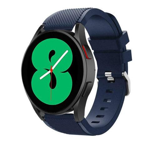 Strap-it® Strap-it Samsung Galaxy Watch 4 - 44mm siliconen bandje (donkerblauw)