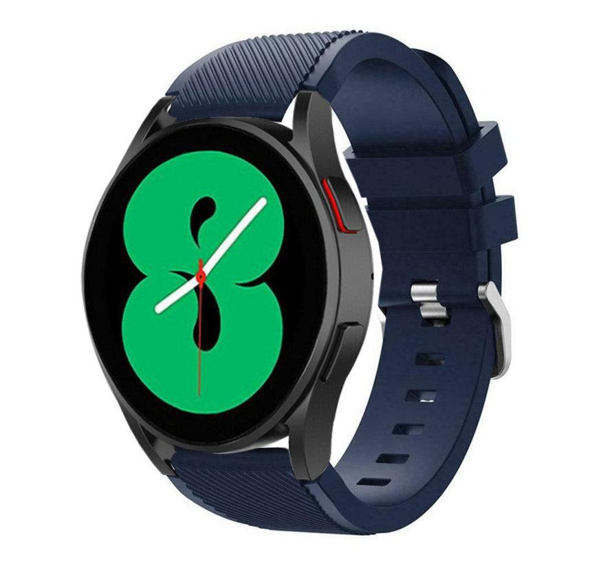 Strap-it Samsung Galaxy Watch 4 - 44mm siliconen bandje (donkerblauw)