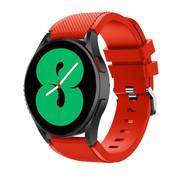 Strap-it® Samsung Galaxy Watch 4 - 44mm siliconen bandje (rood)