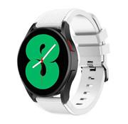 Strap-it® Samsung Galaxy Watch 4 - 44mm siliconen bandje (wit)