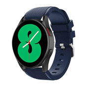 Strap-it® Samsung Galaxy Watch 4 - 40mm siliconen bandje (donkerblauw)