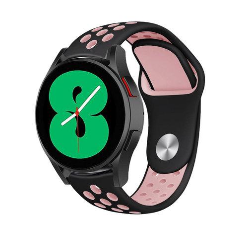 Strap-it® Strap-it® Samsung Galaxy Watch 4 - 40mm sport band (zwart/roze)