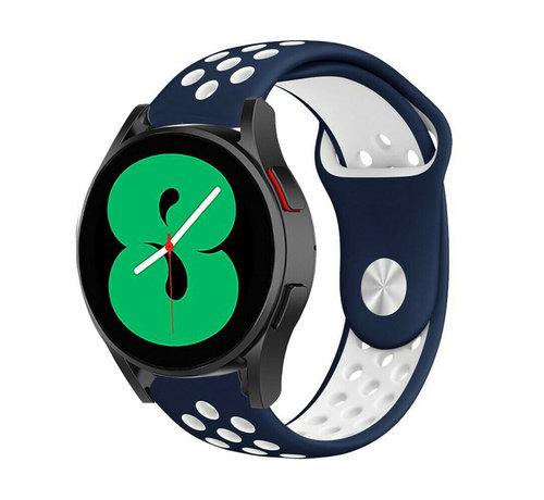 Strap-it® Strap-it® Samsung Galaxy Watch 4 - 40mm sport band (blauw/wit)