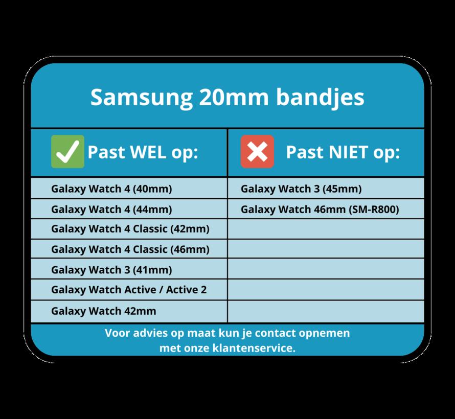 Strap-it® Samsung Galaxy Watch 4 Classic leren bandje (knalroze/roodbruin)
