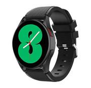 Strap-it® Samsung Galaxy Watch 4 - 44mm siliconen bandje (zwart)