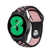 Strap-it® Samsung Galaxy Watch 4 - 44mm sport band (zwart/roze)