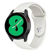 Strap-it® Samsung Galaxy Watch 4 sport band (wit)