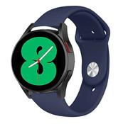 Strap-it® Samsung Galaxy Watch 4 sport band (donkerblauw)