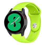 Strap-it® Samsung Galaxy Watch 4 sport band (lichtgroen)