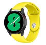 Strap-it® Samsung Galaxy Watch 4 sport band (geel)