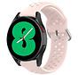 Strap-it® Samsung Galaxy Watch 4 siliconen bandje met gaatjes (roze)