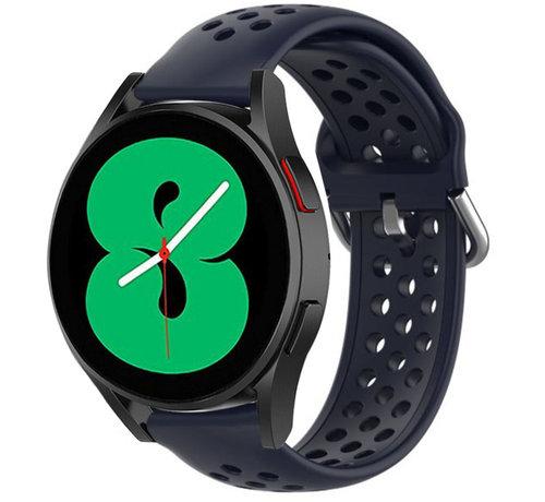 Strap-it® Strap-it® Samsung Galaxy Watch 4 siliconen bandje met gaatjes (donkerblauw)